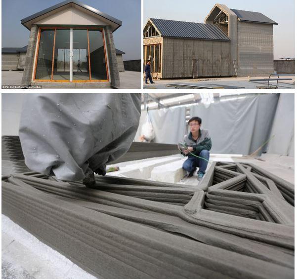 3D Printed Concrete Houses, Shanghai