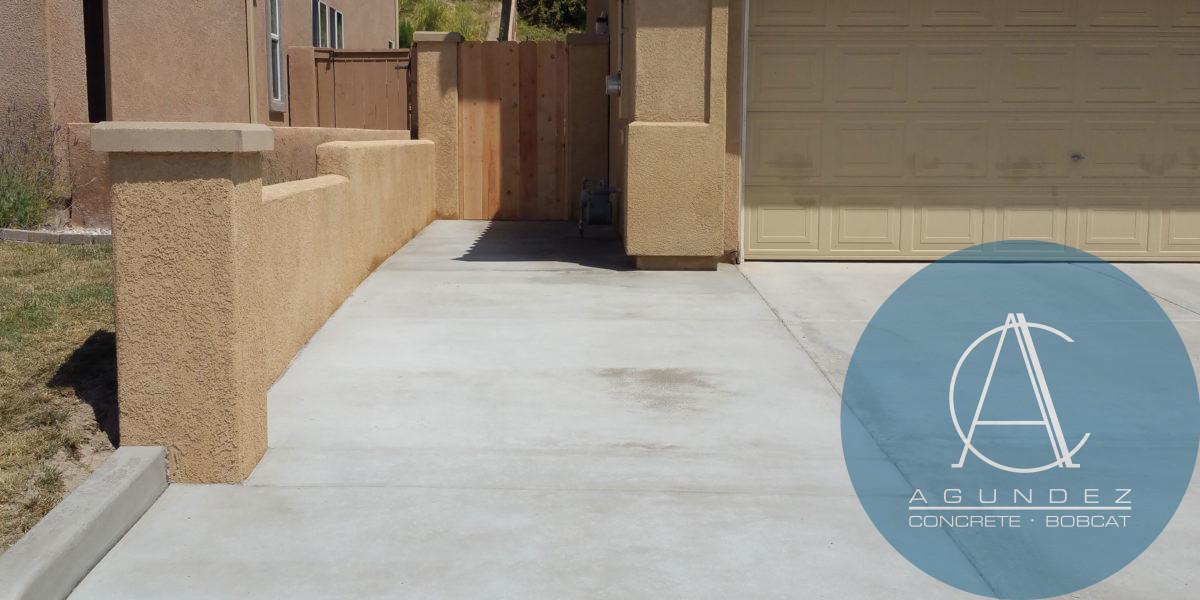 Retaining Wall & Concrete Driveway   Agundez Concrete