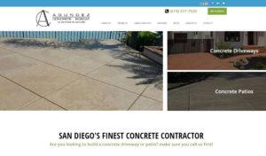 Agundez Concrete website